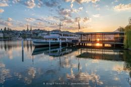 Landisteg-Sonnenspiegelung-Schiff-Morgen
