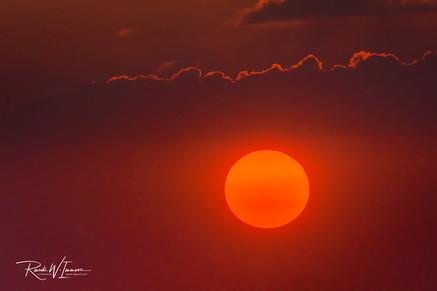Sun in red; Seebodenalp