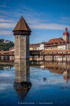 Luzern Wasserturm Spiegelung Kalenderbil