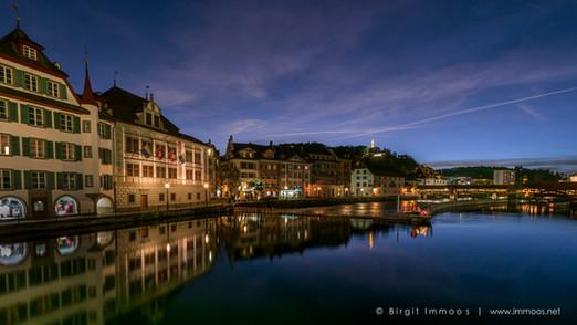Luzern Reusswehr Abendblick von 2017_DSC