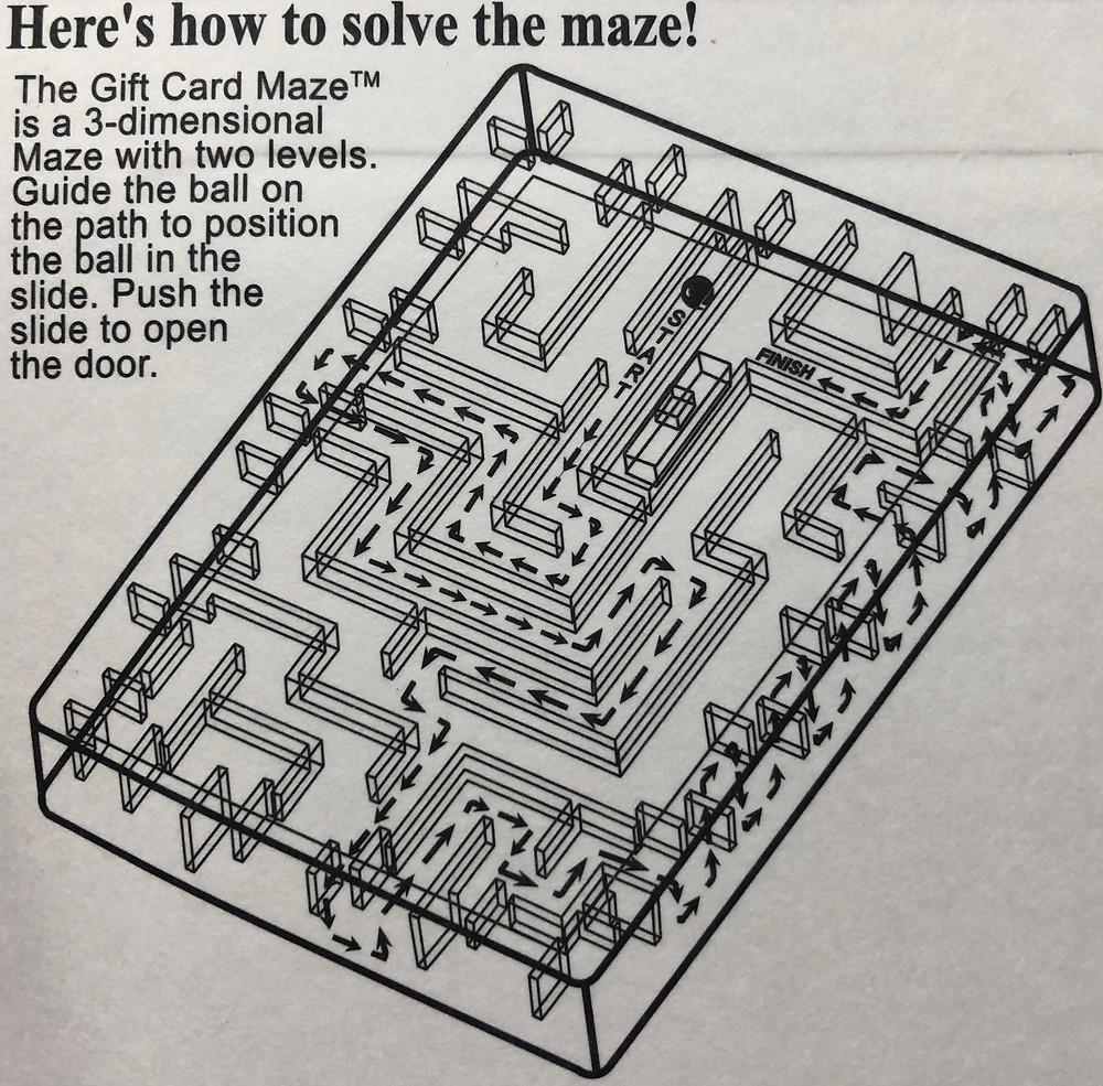 Escape Room Gift Card Maze Box Solution