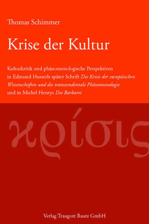 Thomas Schimmer - Krise der Kultur