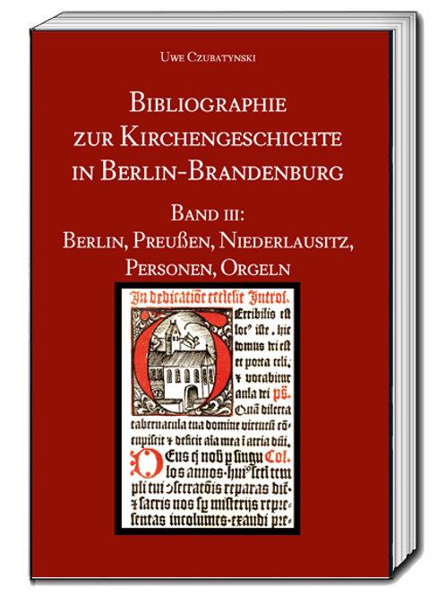 Uwe Czubatynski - Bibliographie zur Kirchengeschichte