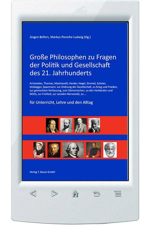 E-Book Große Philosophen zu Fragen der Politik und Gesellschaft