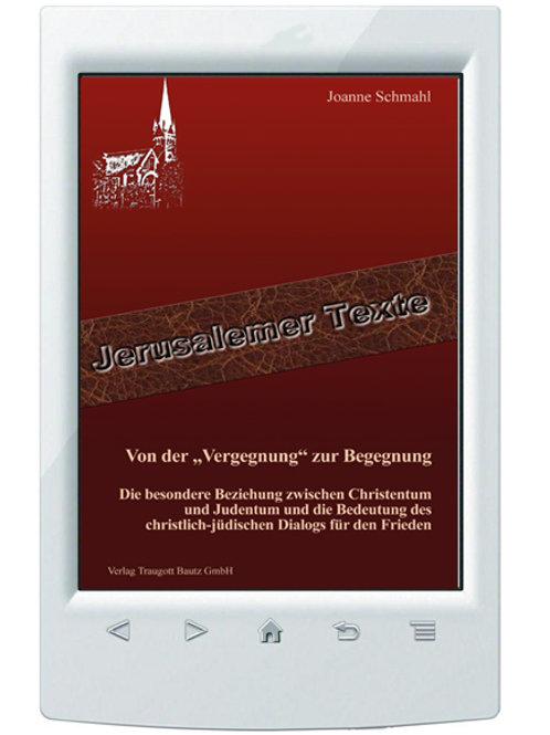 """E-Book Joanne Schmahl - Von der """"Vergegnung"""" zur Begegnung"""