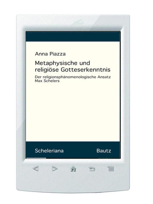 E-Book/ Anna Piazza -Metaphysische und religiöse Gotteserkenntnis