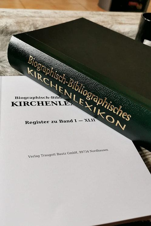 Biographisch-Bibliographisches Kirchenlexikon Band XLII und Ergänzungen XXIX