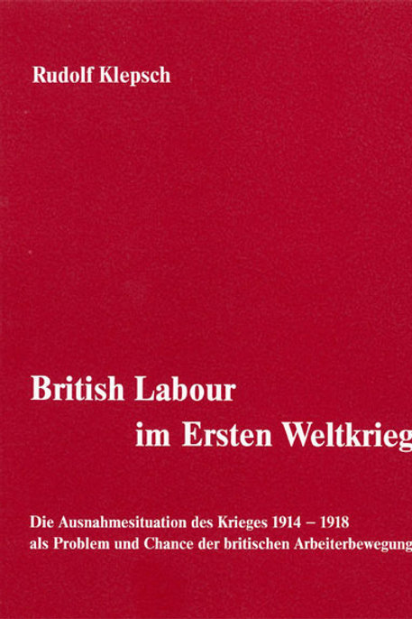 British Labour im Ersten Weltkrieg