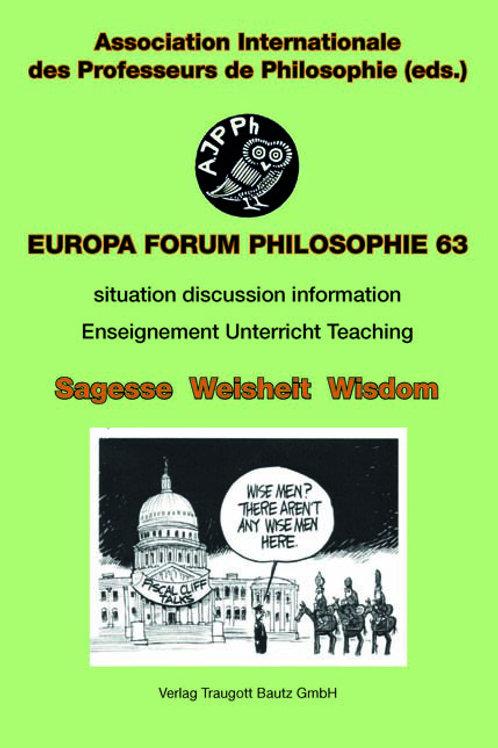 Gabriele Münnix, Werner Busch, Edgar Fuhrken (Hrsg.) Sagesse / Weisheit / Wisdom