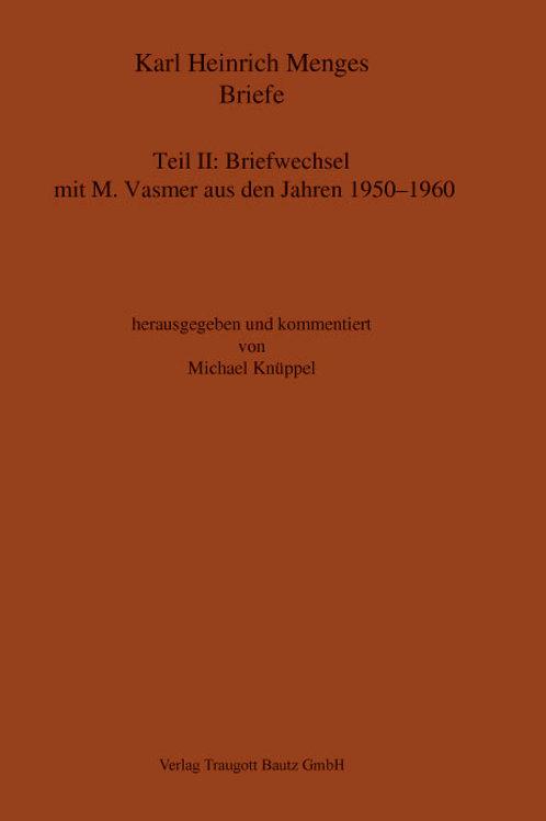 Karl Heinrich Menges  Briefe Teil II