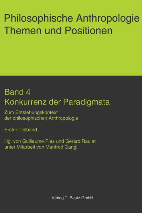 Konkurrenz der Paradigmata Band4/1