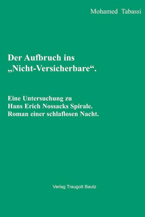 """Mohamed Tabassi - Der Aufbruch ins """"Nicht-Versicherbare""""."""