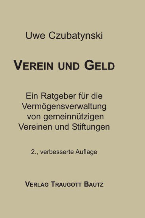 Uwe Czubatynski - Verein und Geld