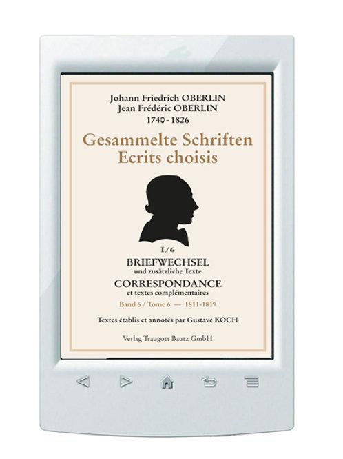 E-Book/ Gustave Koch (Hrsg.) Johann Friedrich Oberlin 1740-1826