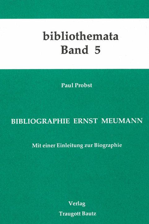 Bibliographie Ernst Meumann