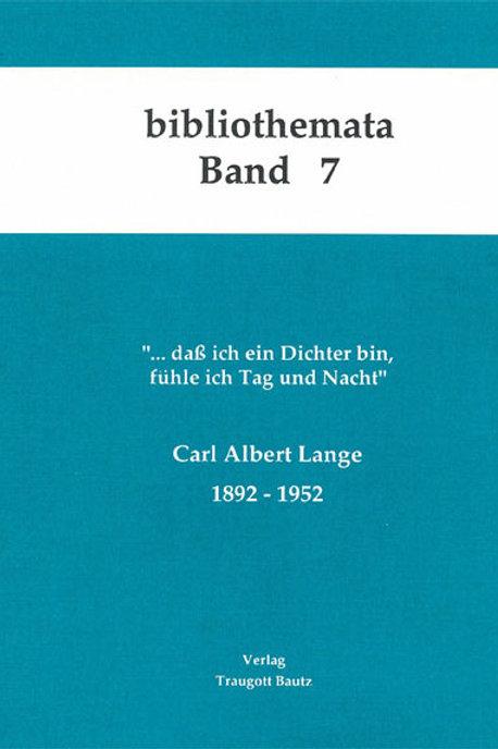 Carl Albert Lange 1892 - 1952.