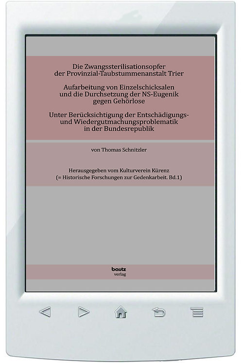 E-Book Thomas Schnitzler-Die Zwangssterilisationsopfer der Provinzialtaubstummen