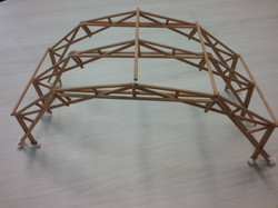 maquete arco madeira