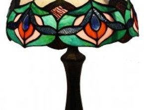 "13 T123494 Leadlight Table Lamp 12"""