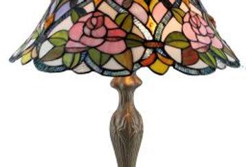 "13 T183411 Leadlight Table Lamp 18"""