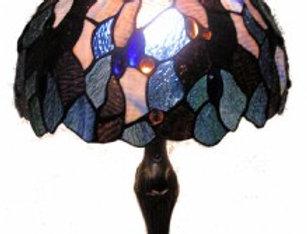 "13 T121896 Leadlight Table Lamp 12"""