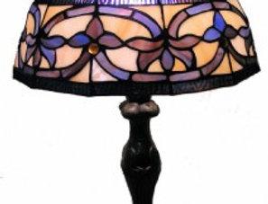 "13 121345B Leadlight Table Lamp 12"""