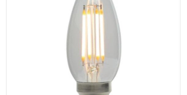 21 LED CANDLE CLEAR B22