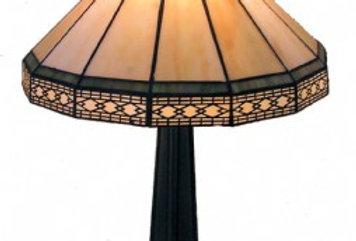 "13 T161013 Leadlight Table Lamp 16"""
