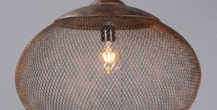 44 CARLO Hanging Lamp in Rustic