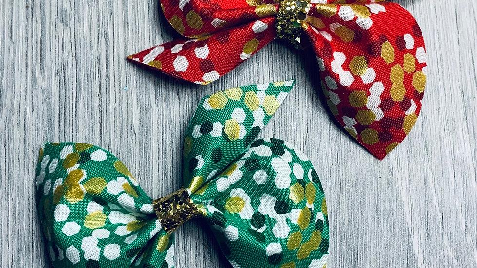 Spotty dotty Christmas bow