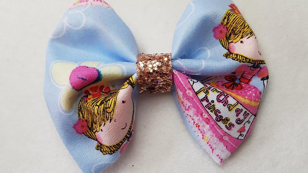 Birthday princess pinch bow