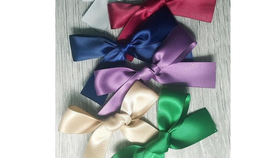 Handtied silk ribbon bows