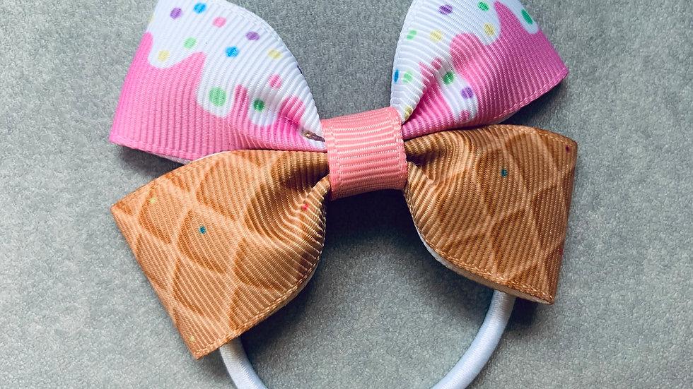 Ice cream ribbon bow