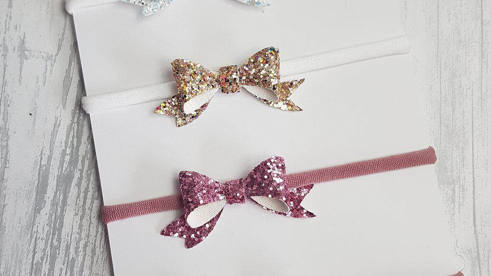 Sparkly baby headband set