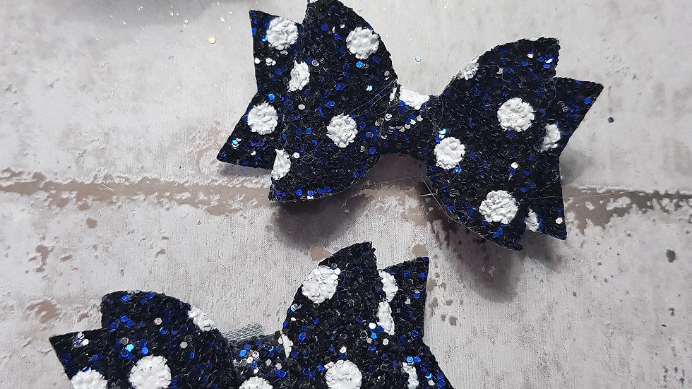 Sparkly spotty bows