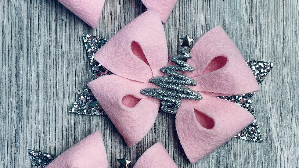 Pink Tree Star bows