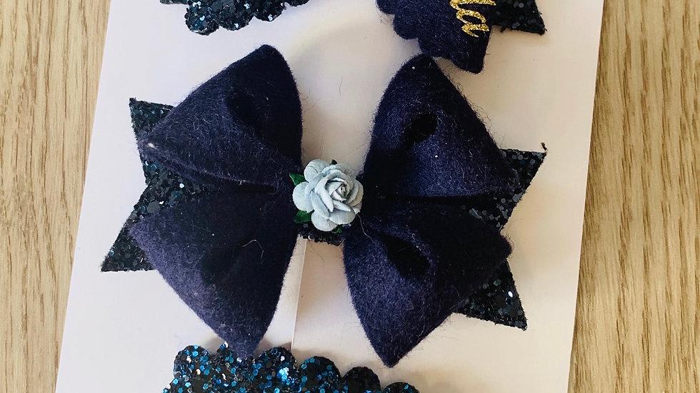 School bow clip set