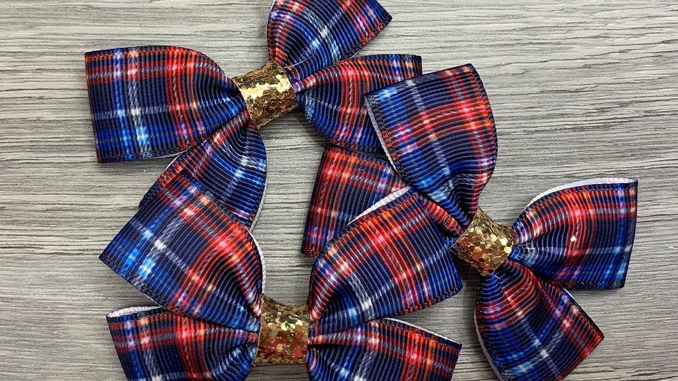 Tartan ribbon bow