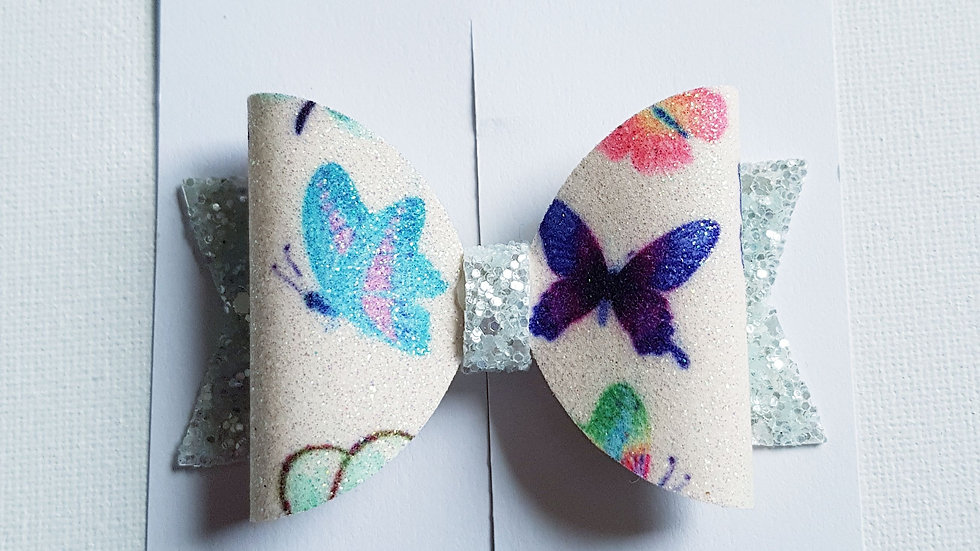 Sparkly butterfly hair bow
