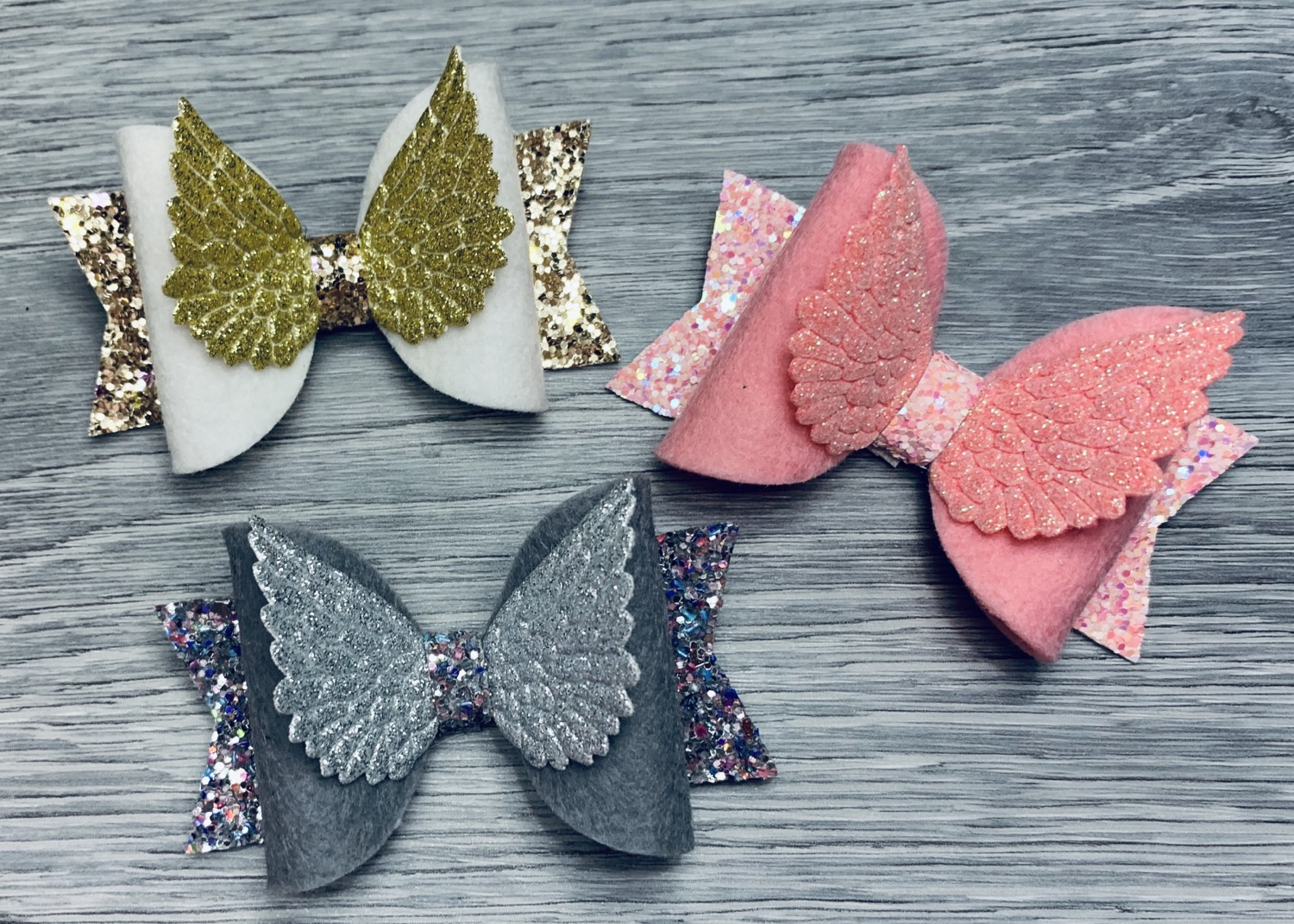 Angel wing dolly bows