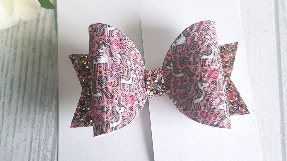 Unicorn Rainbow Dolly bow