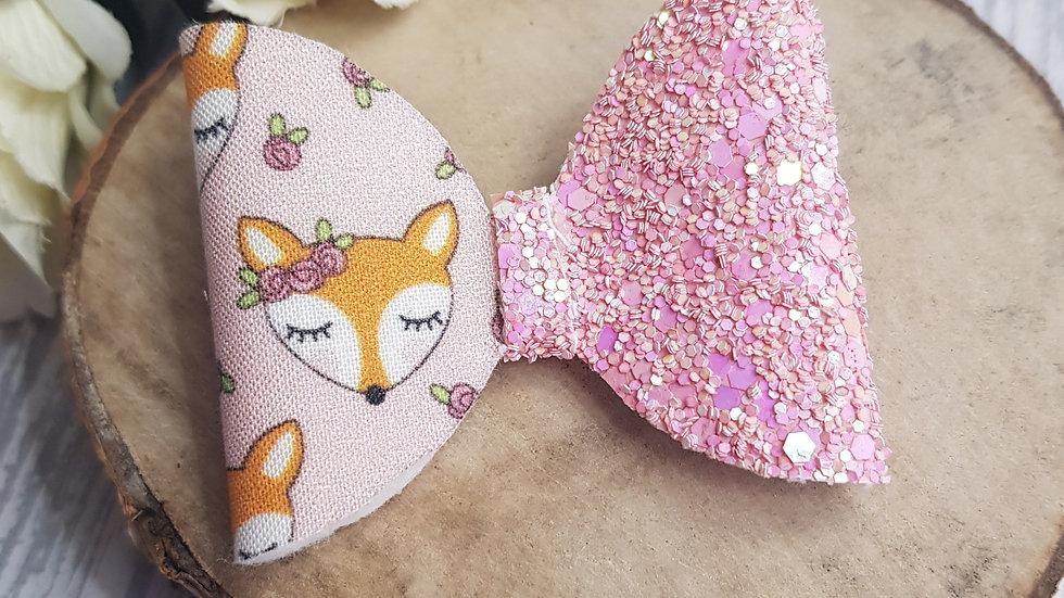 Boho fox hair bow