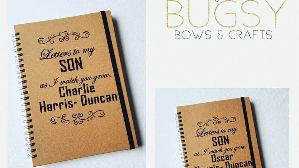 Letters to my Son or Daughter notebooks