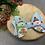 Thumbnail: Blue Santa Christmas bow