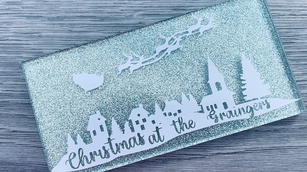 Sparkly glitter Christmas sign