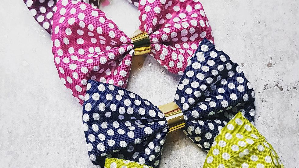 Spotty cotton bows