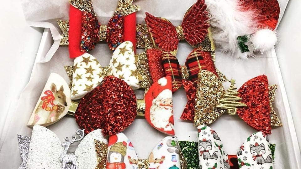 Christmas surprise bow box