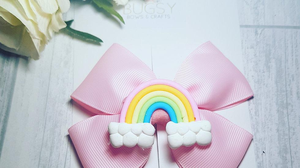 Rainbow ribbon bow