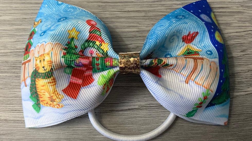 Christmas large ribbon tux bow