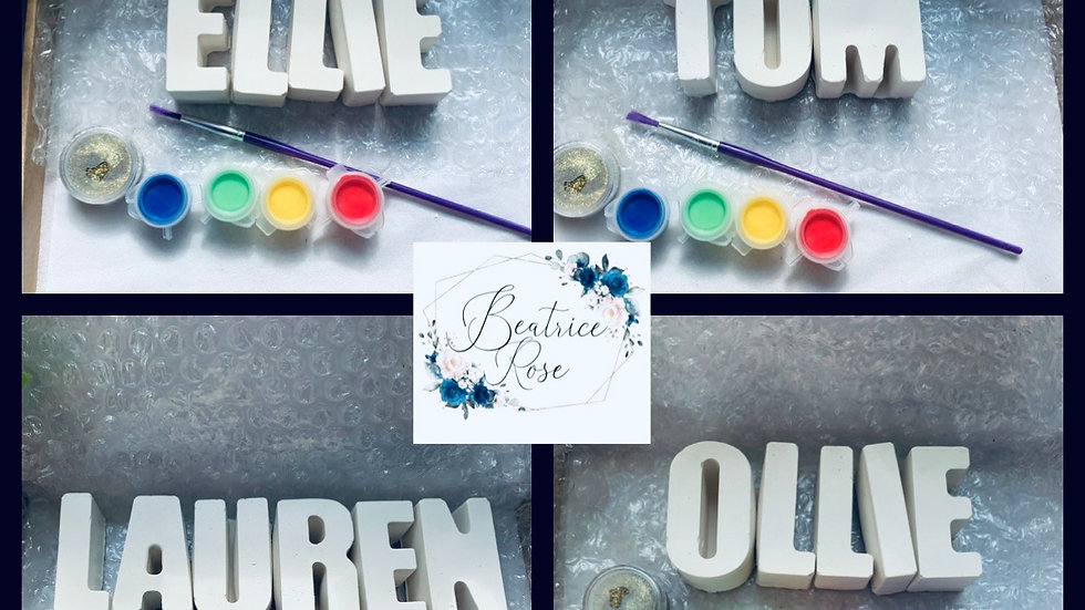 Paint your own name craft kits